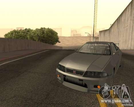 Nissan Skyline GT-R R-33 für GTA San Andreas Unteransicht