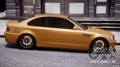 BMW M3 E46 Tuning 2001 v2.0 pour GTA 4 est un côté