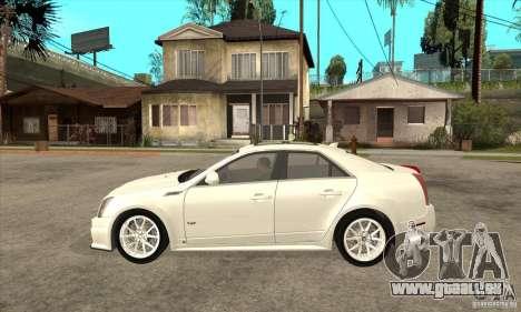 Cadillac CTS-V 2009 v2.0 für GTA San Andreas linke Ansicht