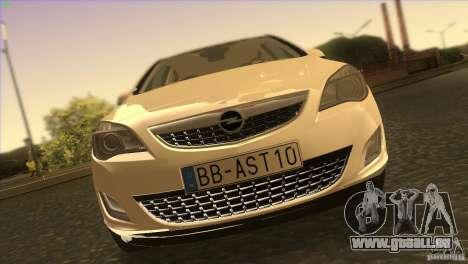 Opel Astra 2010 pour GTA San Andreas vue de dessus