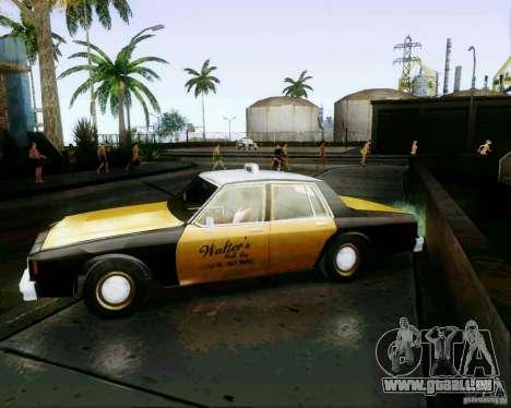 Chevrolet Impala 1986 Taxi Cab für GTA San Andreas zurück linke Ansicht