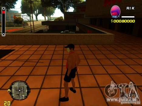 Homme peau plage pour GTA San Andreas troisième écran