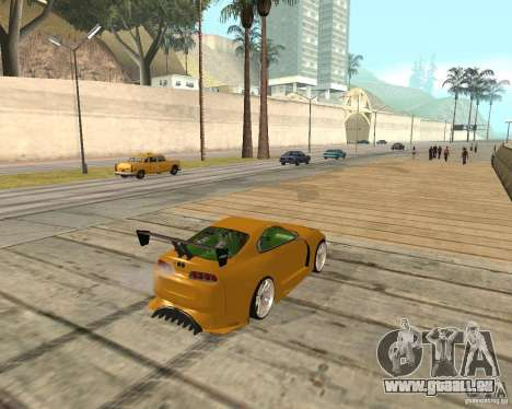 Toyota Supra TwinTurbo pour GTA San Andreas vue de côté