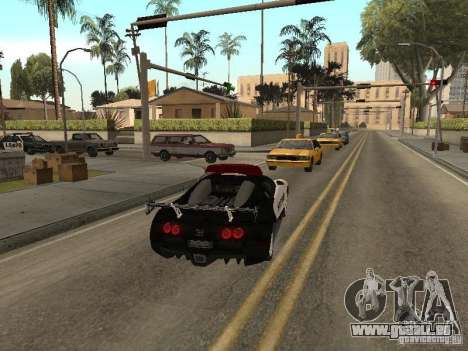 Bugatti Veyron Police pour GTA San Andreas vue de droite