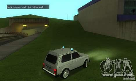 VAZ 21213 NIVA FBI pour GTA San Andreas vue de droite