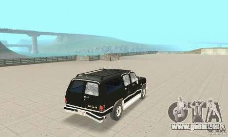 Chevrolet Suburban FBI 1986 pour GTA San Andreas vue de dessus