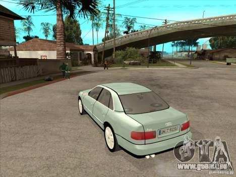 Audi A8 Long 6.0 W12 2002 pour GTA San Andreas vue de droite