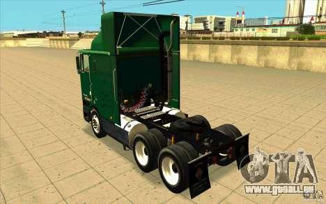 Navistar International 9800 pour GTA San Andreas sur la vue arrière gauche