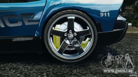 Dodge Viper SRT-10 ACR ELITE POLICE [ELS] für GTA 4 Rückansicht