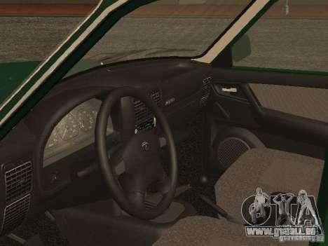GAZ 3110 c. 2 pour GTA San Andreas vue arrière