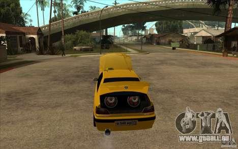 Peugeot 406 Taxi pour GTA San Andreas vue intérieure