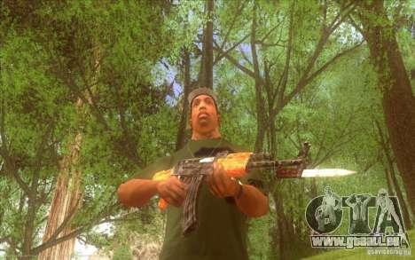 Kalaschnikow HD für GTA San Andreas her Screenshot
