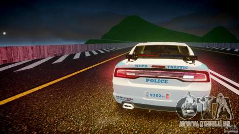 Dodge Charger NYPD 2012 [ELS] für GTA 4-Motor