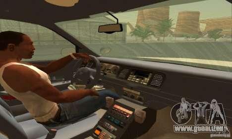Ford Crown Victoria South Carolina Police pour GTA San Andreas sur la vue arrière gauche