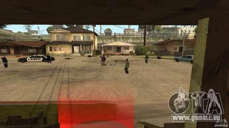 Sur la rue Grove a été attaquée par les Ballas pour GTA San Andreas deuxième écran