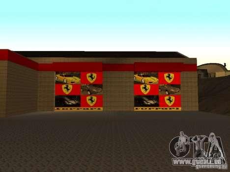 Le garage Ferrari dans Dorothy pour GTA San Andreas deuxième écran
