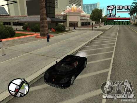 Koenigsegg CCX pour GTA San Andreas