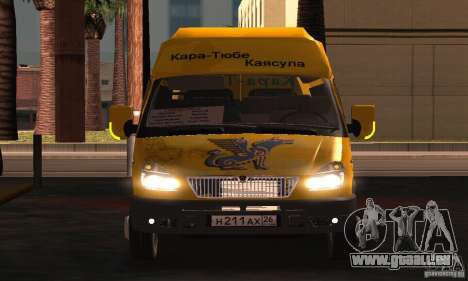 Gazelle 2705 Minibus pour GTA San Andreas vue intérieure