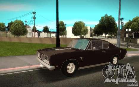 Plymouth Barracuda Formula S pour GTA San Andreas sur la vue arrière gauche