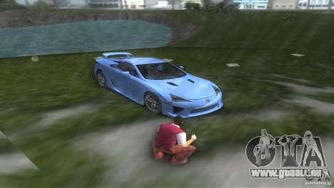Lexus LFA pour GTA Vice City vue arrière
