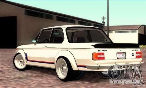 BMW 2002 Turbo pour GTA San Andreas laissé vue