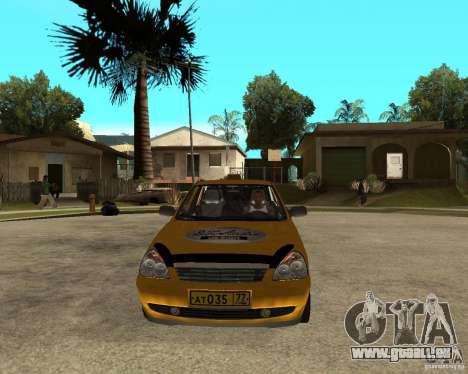 LADA 2170 « priora » Taxi pour GTA San Andreas vue arrière