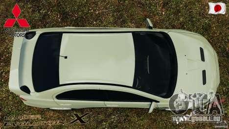 Mitsubishi Lancer Evolution X 2007 für GTA 4 rechte Ansicht