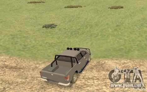 Toyota Tundra 4x4 pour GTA San Andreas sur la vue arrière gauche