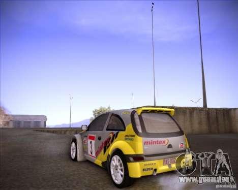 Opel Corsa Super 1600 für GTA San Andreas Rückansicht