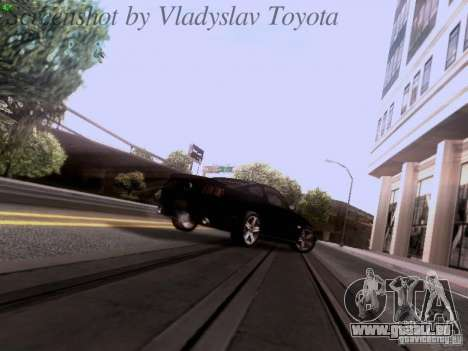 Ford Mustang GT 2011 Unmarked pour GTA San Andreas vue de dessus