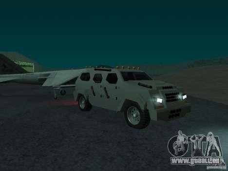 FBI Truck from Fast Five pour GTA San Andreas vue de droite