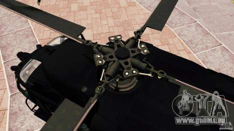 MH-60K Black Hawk pour GTA 4 est une vue de l'intérieur