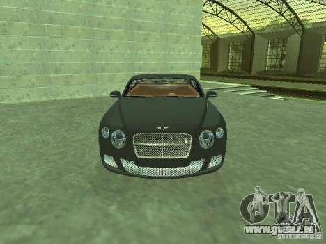 Bentley Continental GT 2010 V1.0 für GTA San Andreas Rückansicht