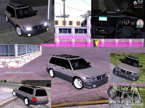 Subaru Forester 1997 année pour GTA San Andreas vue intérieure