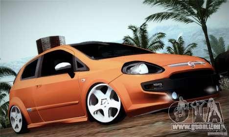 Fiat Punto Evo 2010 Edit für GTA San Andreas zurück linke Ansicht