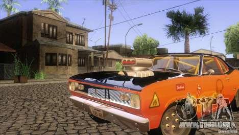 Plymouth Duster 440 für GTA San Andreas Unteransicht