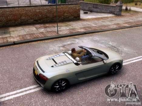 Audi R8 Spyder 5.2 FSI quattro V4 EPM pour GTA 4 est une vue de l'intérieur
