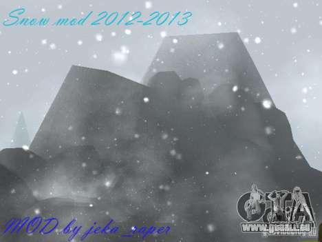 Snow MOD 2012-2013 pour GTA San Andreas