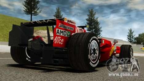 Ferrari F2008 für GTA 4 hinten links Ansicht