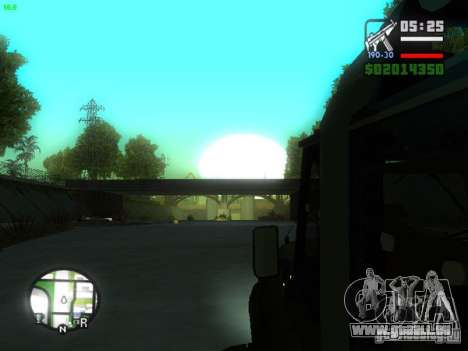 UAZ Hunter für GTA San Andreas Rückansicht