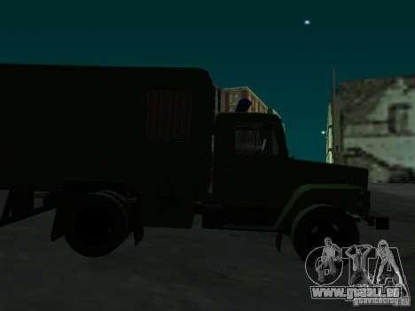 GAZ 3309 Paddy wagon für GTA San Andreas Innenansicht