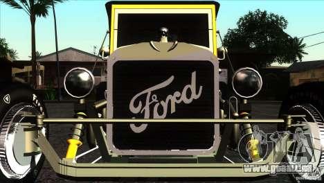 Ford T 1927 Hot Rod für GTA San Andreas Innenansicht