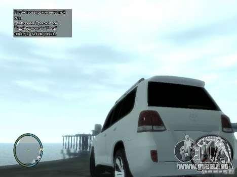 Toyota Land Cruiser 200 FINAL für GTA 4 hinten links Ansicht