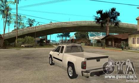 GMC Sierra pour GTA San Andreas sur la vue arrière gauche