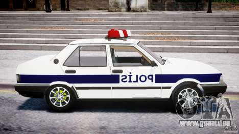 Tofas Sahin Turkish Police v1.0 pour GTA 4 Vue arrière