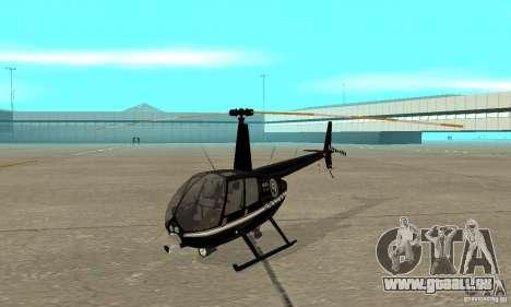 Robinson R44 Raven II NC 1.0 noir pour GTA San Andreas laissé vue