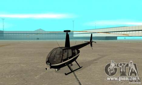 Robinson R44 Raven II NC 1.0 schwarz für GTA San Andreas linke Ansicht