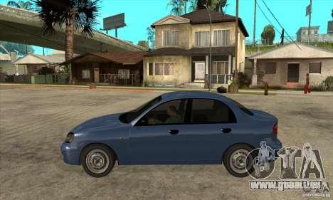 Daewoo Lanos v2 pour GTA San Andreas laissé vue