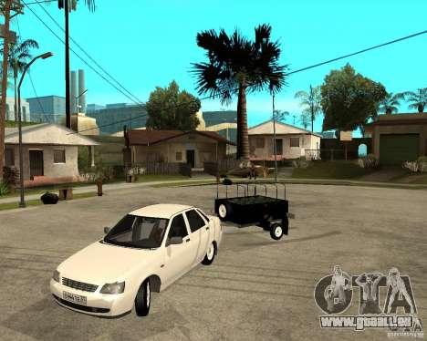 2170 LADA Priora Light tuning et remorque pour GTA San Andreas