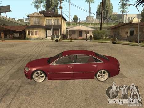Audi A8 Switze pour GTA San Andreas laissé vue
